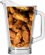 We offer a special price on a Pitcher of our Jumbo Wings